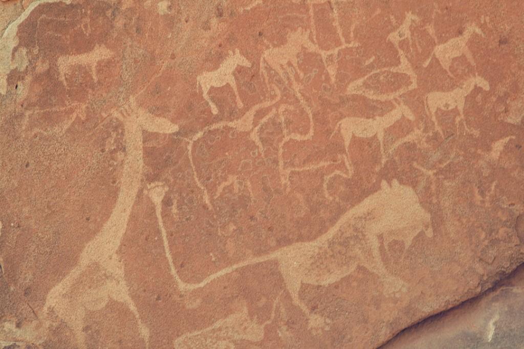 Namibië - Afrika - rotstekeningen - reisjournaal 2007 - Jannekes wereld - reizen