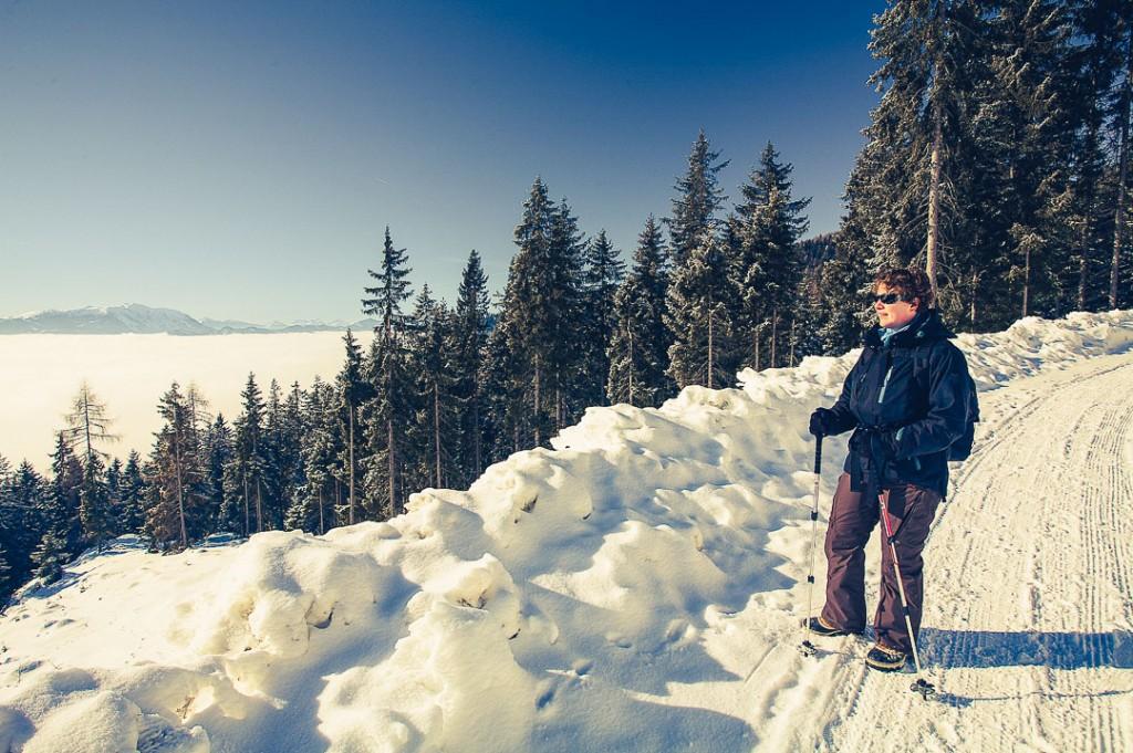 Karinthië Oostenrijk sneeuw wandelen bergen